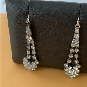 Vintage '70's Rhinestone Earrings